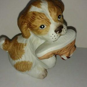 Collectible dog figurine home decor